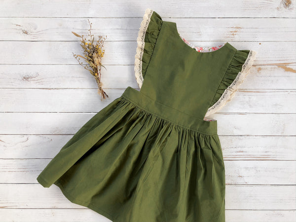 Olive Pinafore Dress