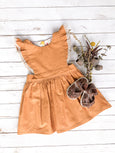Mustard Pinafore Dress