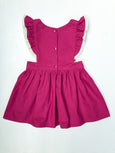 Fushia Pinafore Dress