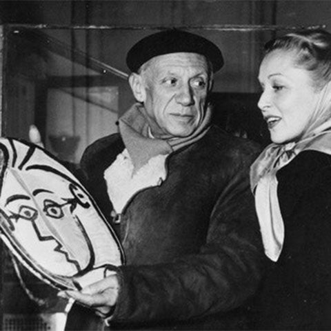 Picasso with woman