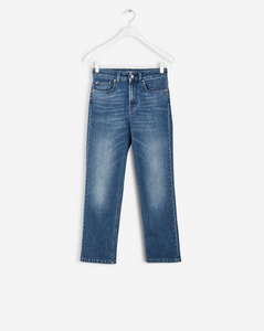 Filippa K Stella Cropped Mid Blue Denim