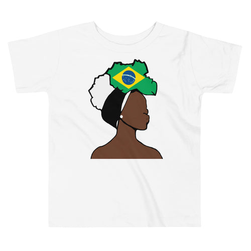 Brazil Head Wrap Queen Toddler Premium Tee