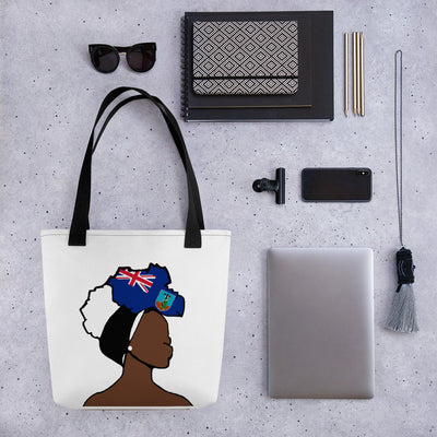 Montserrat Head Wrap Queen Tote Bag