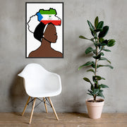 Eq Guinea Head Wrap Queen Framed Poster