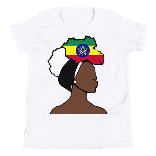 Ethiopia Head Wrap Queen Youth Premium Tee