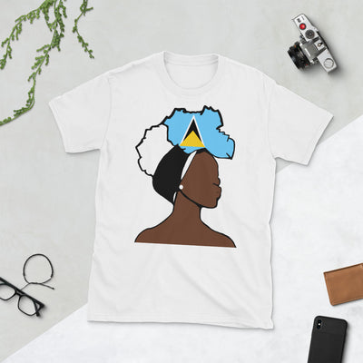 Saint Lucia Head Wrap Queen Unisex T-shirt