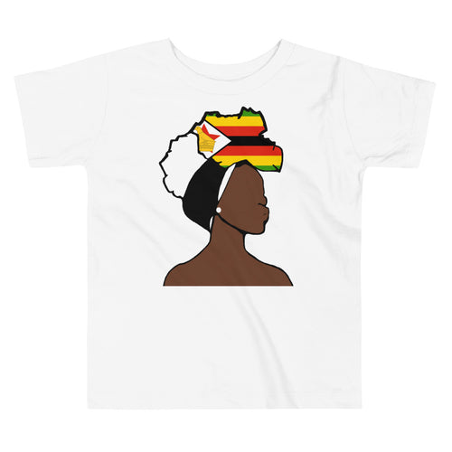 Zimbabwe Head Wrap Queen Toddler Premium Tee