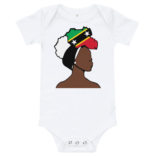 Saint Kitts and Nevis Head Wrap Queen Baby Short Sleeve One Piece