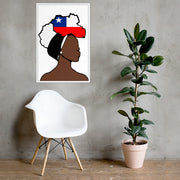 Chile Head Wrap Queen Framed Poster
