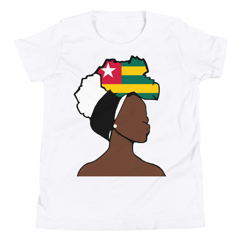 Togo Head Wrap Queen Youth Premium Tee