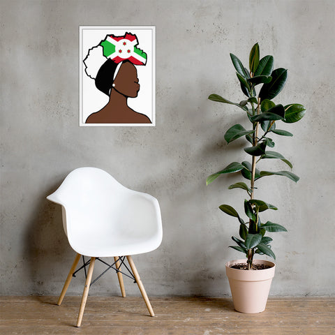 Burundi Head Wrap Queen Framed Poster