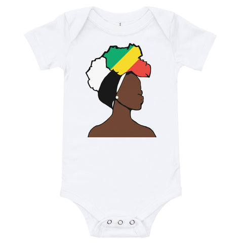 Congo Head Wrap Queen Baby Short Sleeve One Piece