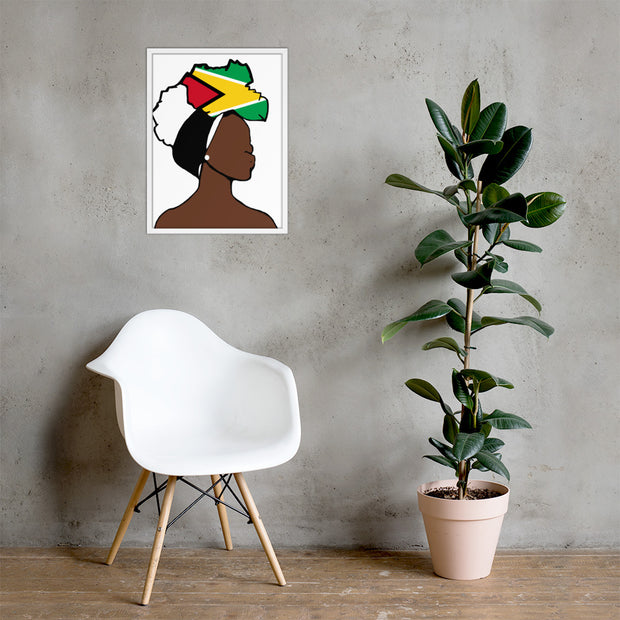 Guyana Head Wrap Queen Framed Poster