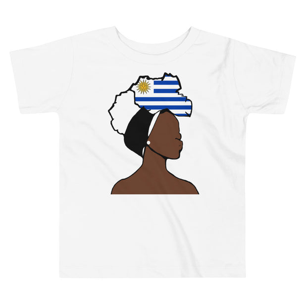 Uruguay Head Wrap Queen Toddler Premium Tee