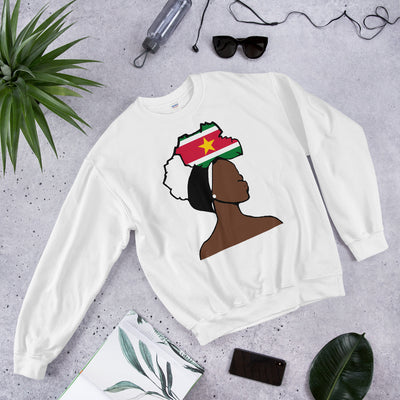 Suriname Head Wrap Queen Unisex Crew Neck Sweatshirt