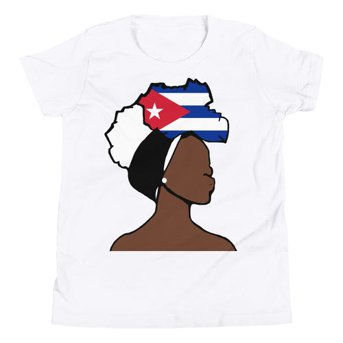 Cuba Head Wrap Queen Youth Premium Tee