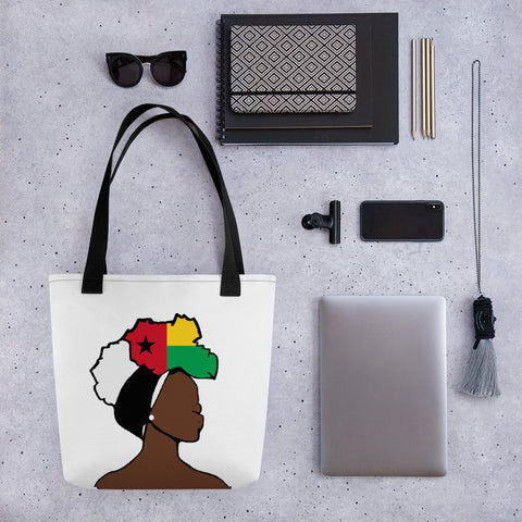 Guinea Bissau Head Wrap Queen Tote Bag