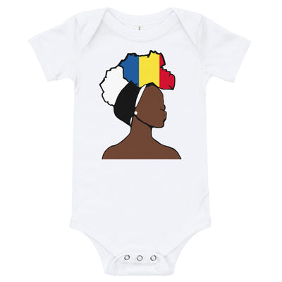 Chad Head Wrap Queen Baby Short Sleeve One Piece