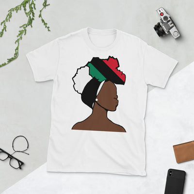 African American Head Wrap Queen Unisex T-shirt