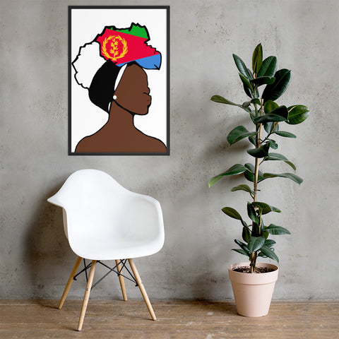Eritrea Head Wrap Queen Framed Poster