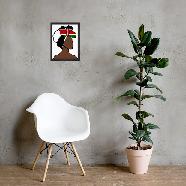 Kenya Head Wrap Queen Framed Poster