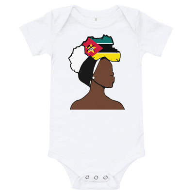 Mozambique Head Wrap Queen Baby Short Sleeve One Piece
