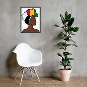 Guinea Head Wrap Queen Framed Poster