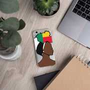 Benin Head Wrap Queen iPhone Case