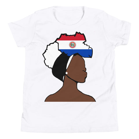 Paraguay Head Wrap Queen Youth Premium Tee