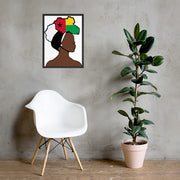 Guinea Bissau Head Wrap Queen Framed Poster