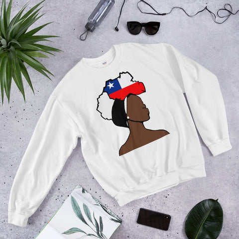 Chile Head Wrap Queen Unisex Crew Neck Sweatshirt
