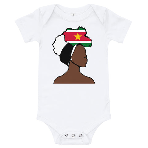 Suriname Head Wrap Queen Baby Short Sleeve One Piece