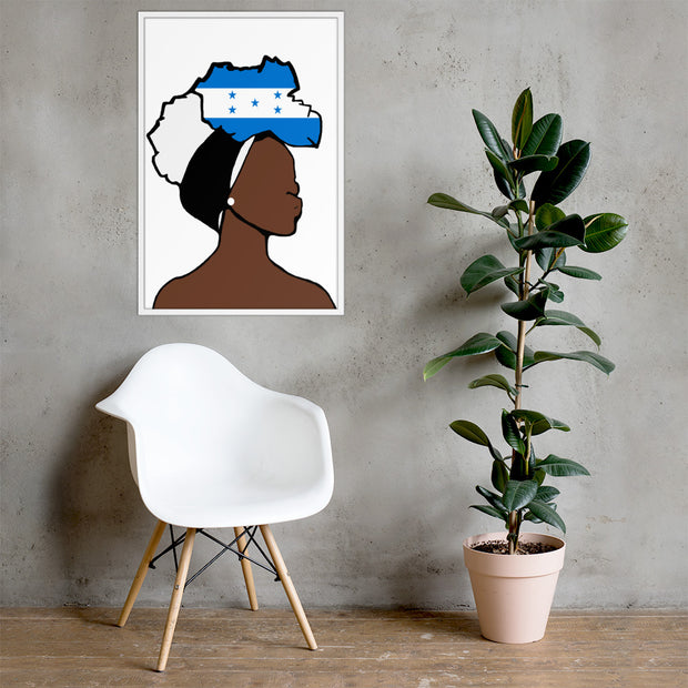 Honduras Head Wrap Queen Framed Poster