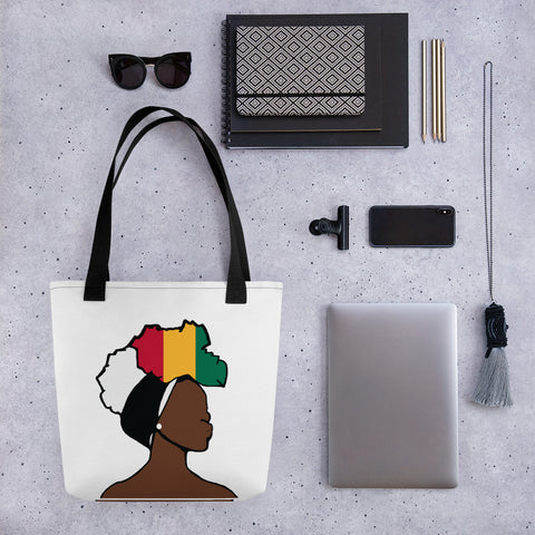 Guinea Head Wrap Queen Tote Bag