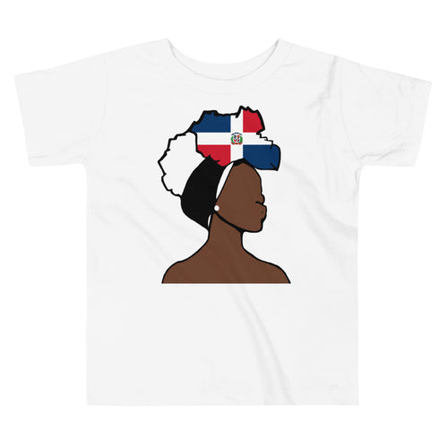 Dominican Republic Head Wrap Queen Toddler Premium Tee