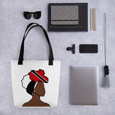 Trinidad and Tobago Head Wrap Queen Tote Bag