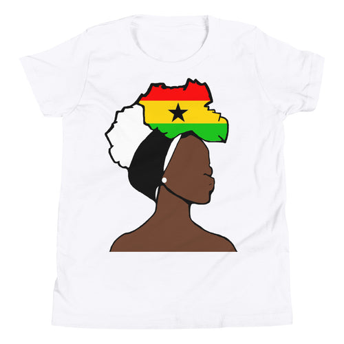 Ghana Head Wrap Queen Youth Premium Tee
