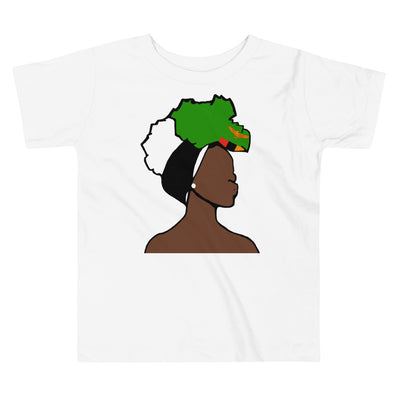 Zambia Head Wrap Queen Toddler Premium Tee