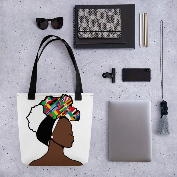 African Countries Head Wrap Queen Tote Bag