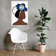Belize Head Wrap Queen Framed Poster