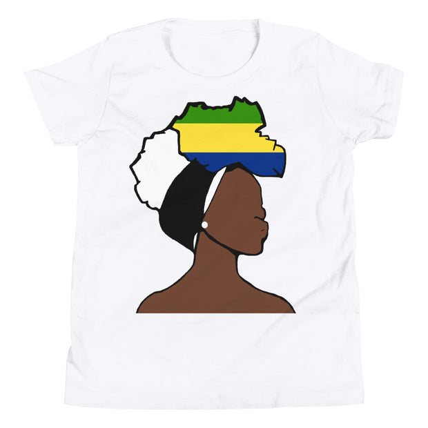 Gabon Head Wrap Queen Youth Premium Tee