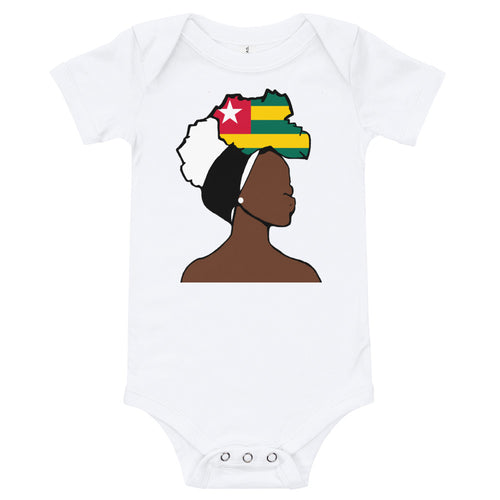 Togo Head Wrap Queen Baby Short Sleeve One Piece