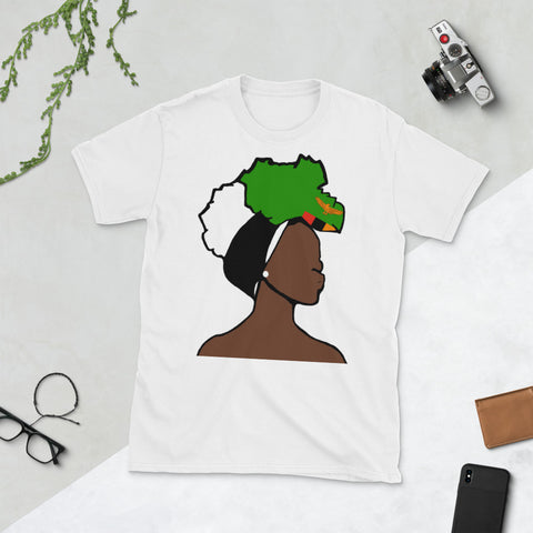 Zambia Head Wrap Queen Unisex T-shirt