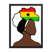 Ghana Head Wrap Queen Framed Poster