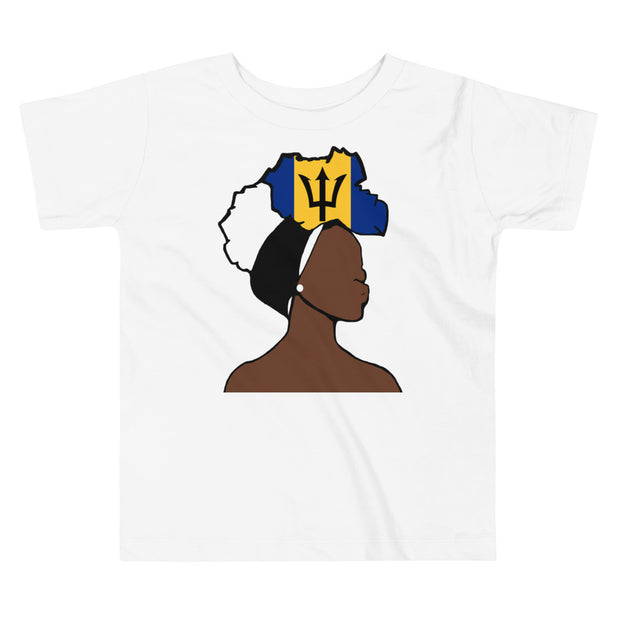 Barbados Head Wrap Queen Toddler Premium Tee