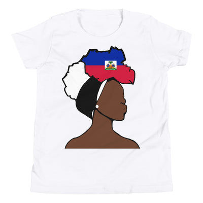 Haiti Head Wrap Queen Youth Premium Tee
