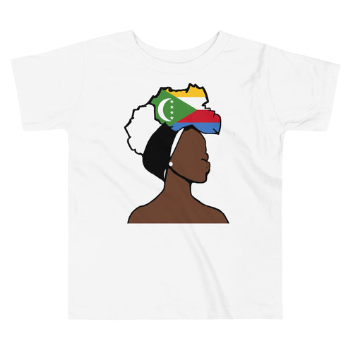Comoros Head Wrap Queen Toddler Premium Tee