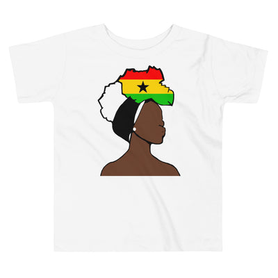 Ghana Head Wrap Queen Toddler Premium Tee