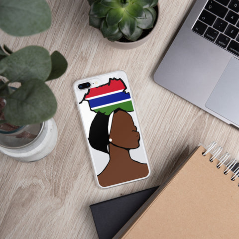 Gambia Head Wrap Queen iPhone Case