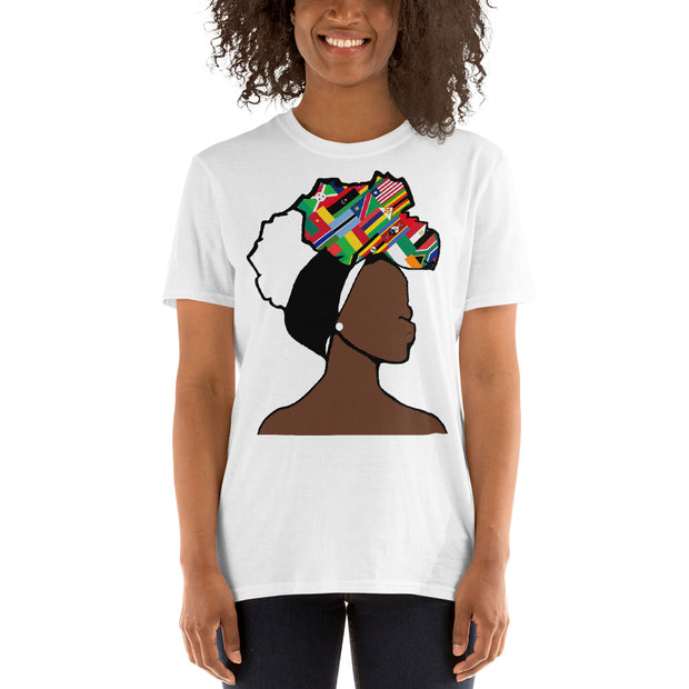 African Countries Head Wrap Queen Unisex T-shirt